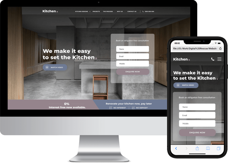 kitchens website design