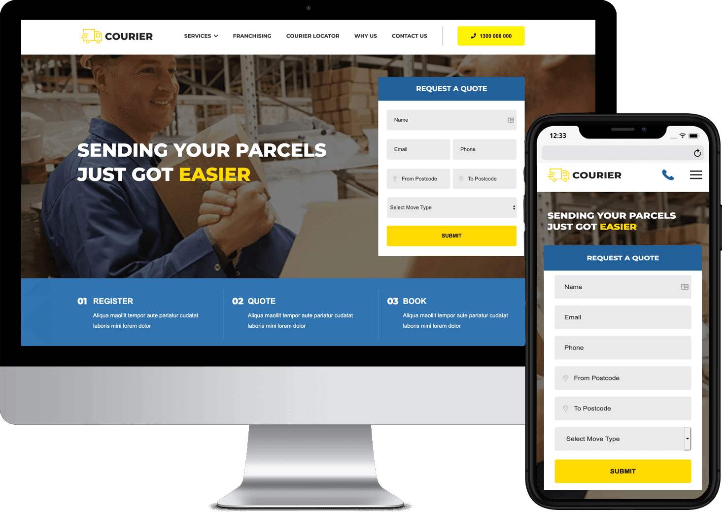 Courier Web Design